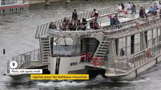 Paris : les bateaux-mouches peu remplis pour la reprise