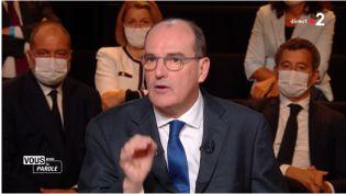 """Jean Castex """"Vous avez la parole"""" 24 septembre 2020 (CAPTURE D'ÉCRAN """"VOUS AVEZ LA PAROLE"""" / FRANCE 2)"""