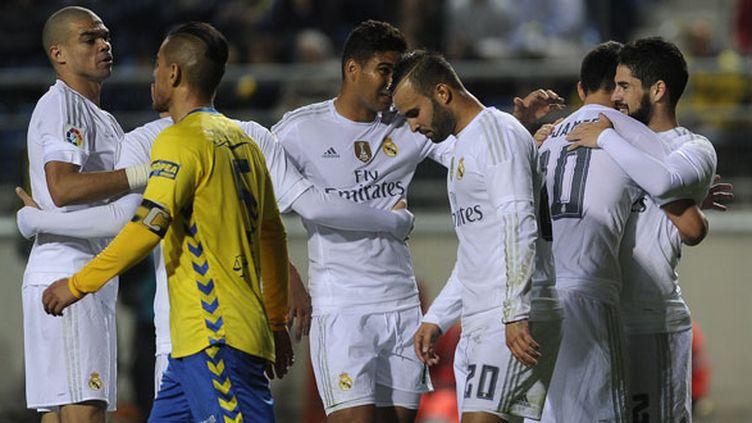 Les joueurs du Real Madrid durant leur rencontre de Coupe du Roi face à Cadix