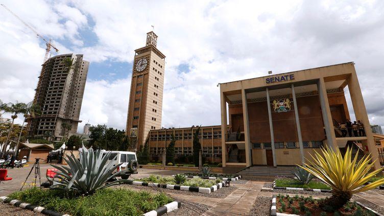 Une vue générale desbâtiments du Parlement kényan (THOMAS MUKOYA / X90150)