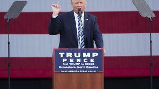 Le candidat républicain à la présidentielle américaine, Donald Trump, lors d'un discours à Greensboro (Etats-Unis), le 14 octobre 2016. (EVAN VUCCI/AP/SIPA)