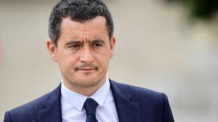 Le ministre de l'Action et des comptes publics Gérald Darmanin quitte l'Elysée, à Paris, le 19 juillet 2017. (MARTIN BUREAU / AFP)
