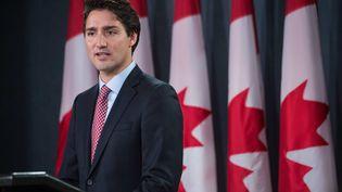 Justin Trudeau s'exprime à Ottawa (Canada) après avoir remporté les élections législatives, le 20 octobre 2015. (NICHOLAS KAMM / AFP)