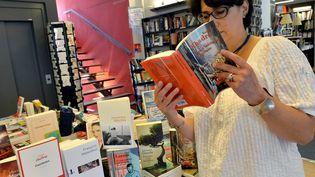 Les livres de la rentrée littéraire sont déjà installés dans cette librairie de Rennes (Ille-et-Vilaine), le 17 août 2016. (MAXPPP)