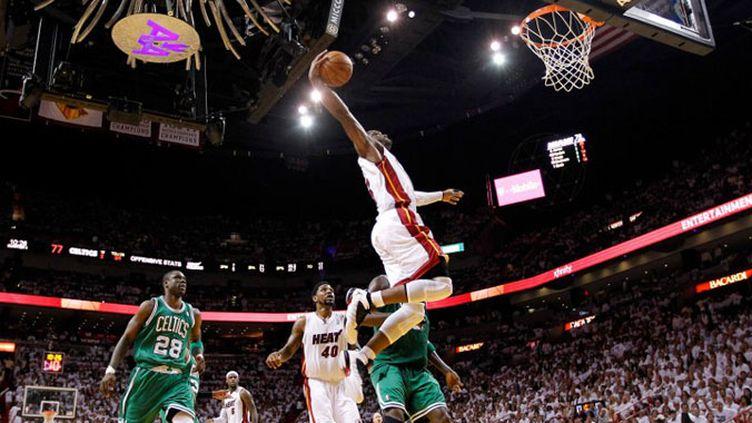 Le joueur de Miami Dwyane Wade au dessus des débats