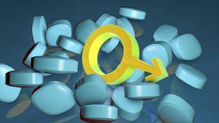 Une illustration des pilules bleues destinées aux problèmes d'impuissance masculine. (KATERYNA KON/SCIENCE PHOTO LIBRA / KKO)