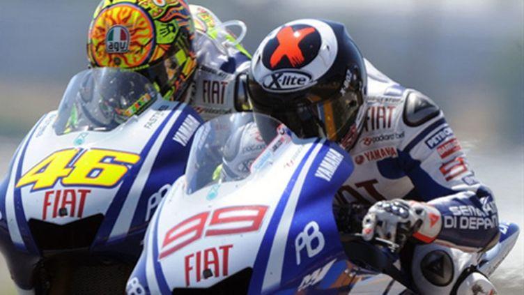 Rossi et Lorenzo, équipiers Yamaha et adversaires