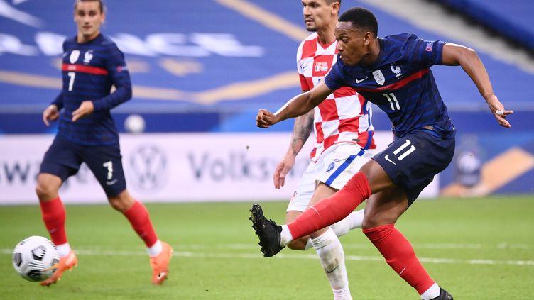 Anthony Martial buteur contre la Croatie (FRANCK FIFE / AFP)
