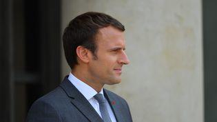 Emmanuel Macron, sur le perron de l'Elysée, à Paris, le 31 juillet 2017. (CITIZENSIDE/FRANCOIS PAULETTO / CITIZENSIDE)
