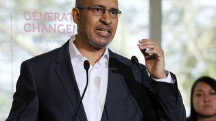 Le premier secrétaire du PS, Harlem Désir, le 5 mai 2013 lors d'une réunion des jeunes socialistes à Soustons (Landes). (JEAN-PIERRE MULLER / AFP)