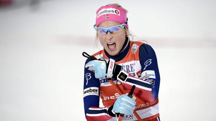 La Norvégienne Therese Johaug (HEIKKI SAUKKOMAA / LEHTIKUVA)