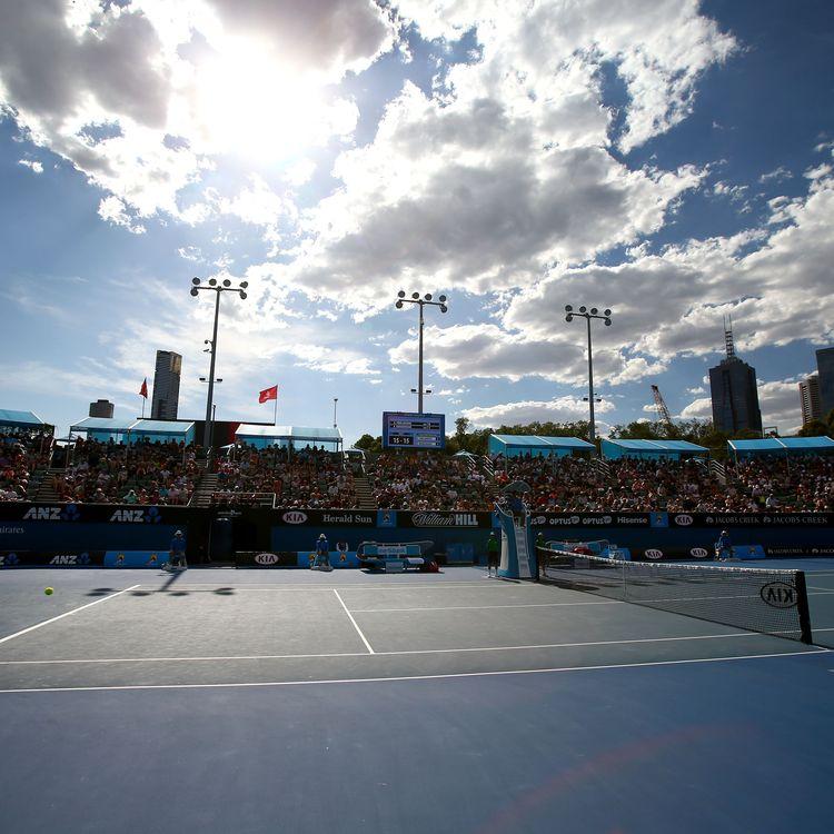 Le court n°2 de l'Open d'Australie, le 18 janvier 2016, à Melbourne (Australie). (SCOTT BARBOUR / GETTY IMAGES ASIAPAC)