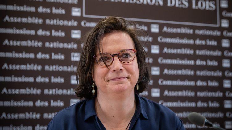 Claire Hédon, lors de son audition à l'Assemblee nationalepour le poste de Défenseure des droits, le 15 juillet 2020. (AURELIEN MORISSARD / MAXPPP)