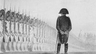 Image d'illustration. Napoléon examine les Grenardiers de la garde impériale en 1811. Gravure d'Augustin Burdet d'un tableau d'Auguste Raffet. (HULTON ARCHIVE / HULTON ARCHIVE)
