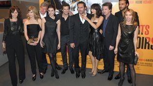 L'équipe du film Les Petits Mouchoirs, de Guillaume Canet, le 14 octobre 2010 à Paris. (BERTRAND LANGLOIS / AFP)