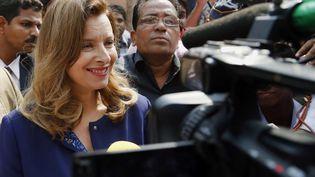 Valérie Trierweiler, l'ex-compagne de François Hollande, le 27 janvier 2014 à Bombay (Inde). (RAJANISH KAKADE / AP / SIPA)
