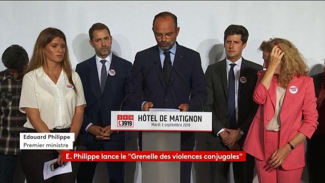 Violences conjugales : Edouard Philippe annonce 1 000 nouvelles places d'hébergement et de logement à partir de janvier 2020