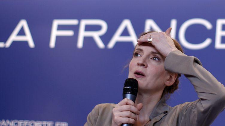 La députée UMP de l'Essonne Nathalie Kosciusko-Morizet, le 17 avril 2012 à Paris. (GONZALO FUENTES / REUTERS)