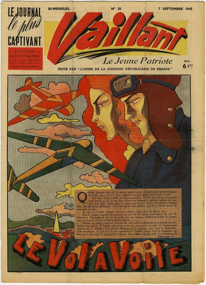 Le journal Vaillant du 7 septembre 1945. (EDITIONS VAILLANT)