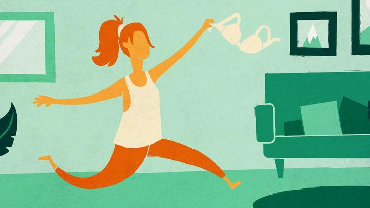 Des femmes ont profité du confinement pour renoncer à certaines habitudes cosmétiques et vestimentaires. (ELLEN LOZON / FRANCEINFO)