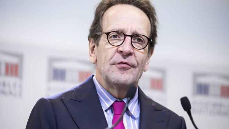 Gilles le Gendre lors d'une conférence de presse à l'Assemblée nationale en octobre 2019 (ALEXIS SCIARD / IP3 PRESS/MAXPPP)