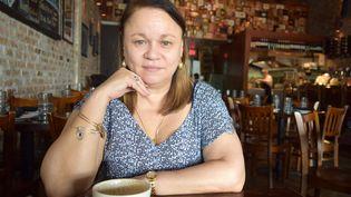 L'écrivaine Zoé Valdés, en août 2017. (JORGE IGNACIO PEREZ / EFE / MAXPPP)