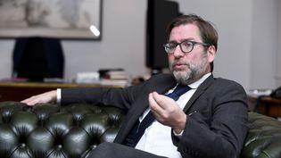 Maître Patrice Spinosi, en 2017. (ERIC PIERMONT / AFP)