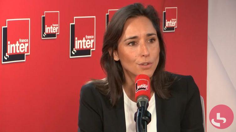 Brune Poirson, secrétaire d'État auprès de la ministre de la Transition écologique et solidaire,sur France Inter mardi 24 septembre 2019. (FRANCE INTER / RADIOFRANCE)
