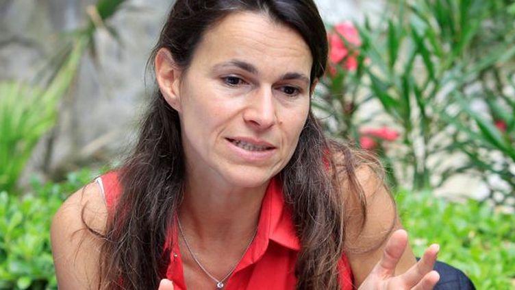 La ministre de la Culture, Aurélie Filippetti à Avignon  (Patrick Roux / MAXPPP)