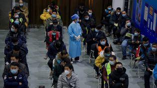 Le musée de l'urbanisme de Pékin a été transformé en gigantesque centre de vaccination contre le covid-19 (15 janvier 2021). (NOEL CELIS / AFP)