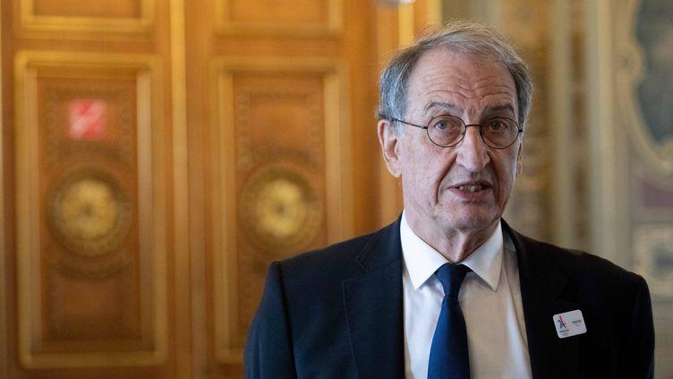 Le président du Comiténational olympique et sportif françaisDenis Masseglia à l'Hôtel de Ville de Paris le 14 juin 2018. (CHRISTOPHE MORIN / MAXPPP)