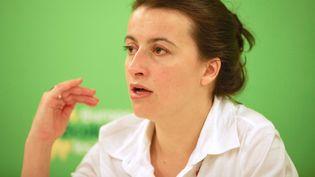 Cécile Duflot, secrétaire générale d'Europe Ecologie-Les Verts, à Paris, le 2 mars 2011. (REVELLI BEAUMONT / SIPA)