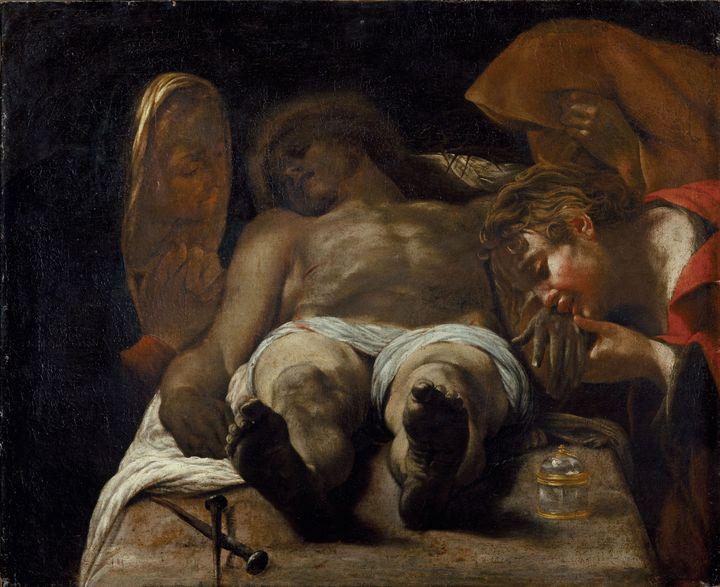 """Orazio Borgianni, """"Déploration sur le Christ mort"""", vers 1615 (Florence, Fondazione di Studi di Storia dell'Arte Roberto Longhi)"""