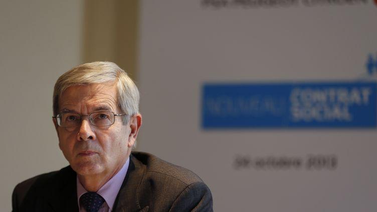 Philippe Varin, le président du directoire de PSA Peugeot Citroën, le 24 octobre 2013 à Paris. (FRANCOIS GUILLOT / AFP)
