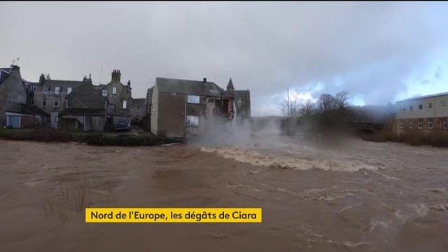 La tempête Ciara sévit au Royaume-Uni, en Allemagne, en Belgique...
