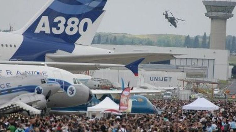 L'Airbus 380 au salon du Bourget en 2009. (PIERRE VERDY / AFP)