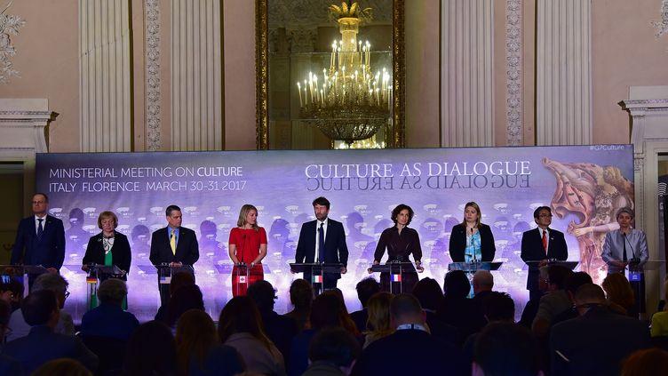 La ville de Florence accueille les 30 et 31 mars, le premier G7 de la culture. (CARLO BRESSAN / ANADOLU AGENCY)