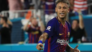 L'attaquant brésilien Neymar lors du match contre le Real Madrid organisé le 29 juillet 2017 à Miami (Etats-Unis). (MIKE EHRMANN / GETTY IMAGES NORTH AMERICA / AFP)