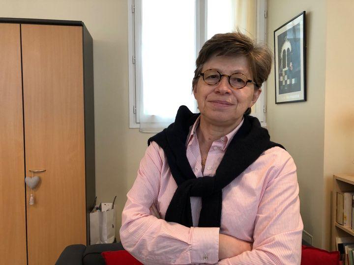 Véronique Margron, présidente de la Conférence des religieux et religieuses de France. (MARGAUX STIVE / FRANCEINFO)