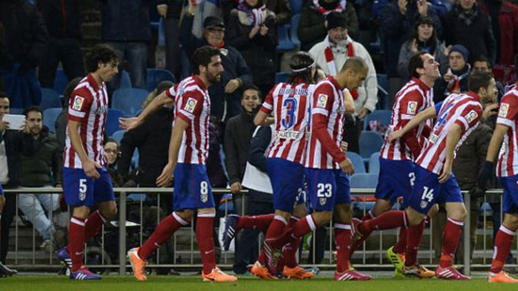Les joueurs de l'Atletico Madrid