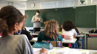 "Classe de CM2 de l'école ""Oihana Ikastola"" de Bayonne. (ALEXIS MOREL / RADIO FRANCE)"