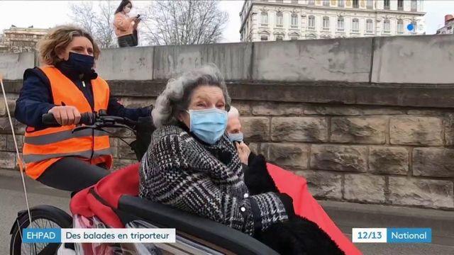 Ehpad : des balades en triporteur à Lyon