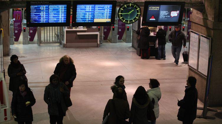 La ligne N du Transilien a pour terminus la gare Montparnasse à Paris. (MAXPPP)
