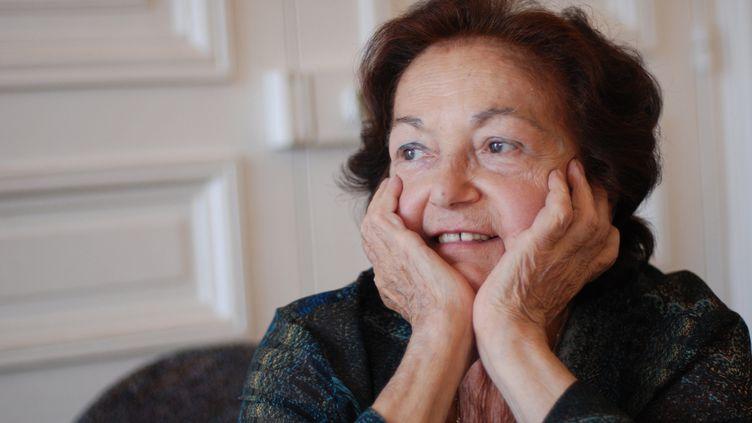 Portrait de Françoise Héritier, le 2 octobre 2013, à Paris. (DRFP / Leemage / AFP)