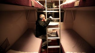 Voyage à bord du train de nuit Paris-Nice, le 10 décembre 2017. (MAXPPP)