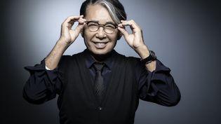 Le styliste japonais Kenzo Takada à Paris, le 14 novembre 2018. (JOEL SAGET / AFP)