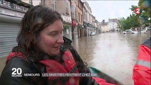 Inondations :  A Nemours, les sinistrés commencent à rentrer chez eux