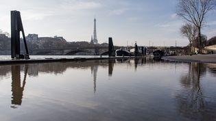 La Seine, photographiée à Paris le 8 janvier 2018. (MAXPPP)