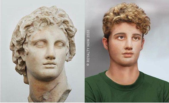 Alexandre le Grand, imaginé au XXIe siècle. (© Royalty Now 2020)
