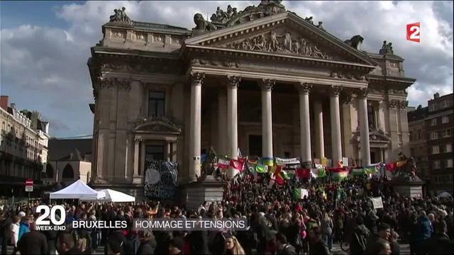 À Bruxelles, l'hommage aux victimes perturbé